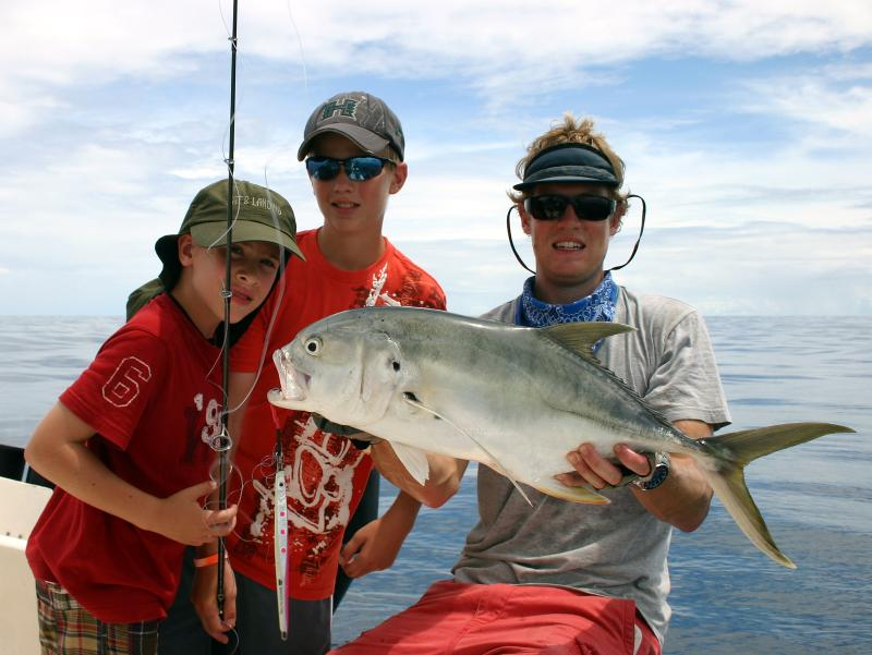 kids love the great fishing at Sierpe del Pacifico