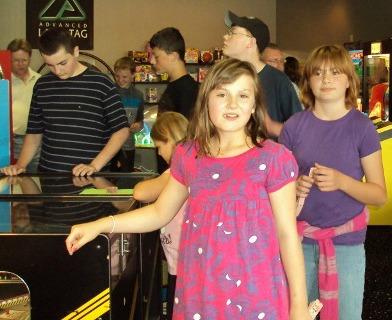 kids laser tag trip