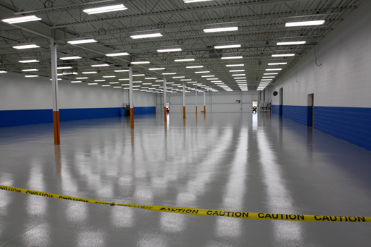 new epoxy floor