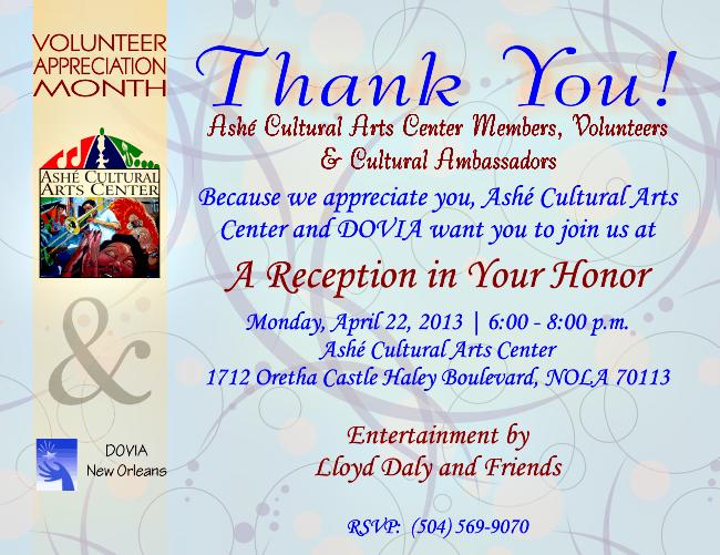 2013 Volunteer Appreciation Reception