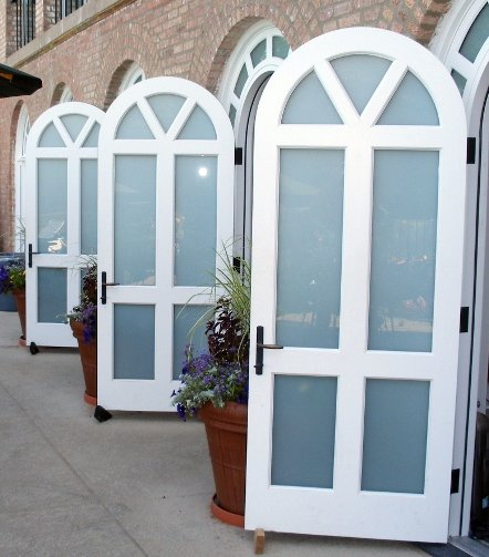 Arched Open Doors