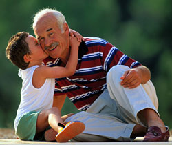 grandpa and grand son
