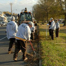 crew cleaning Crisfield after Sandy