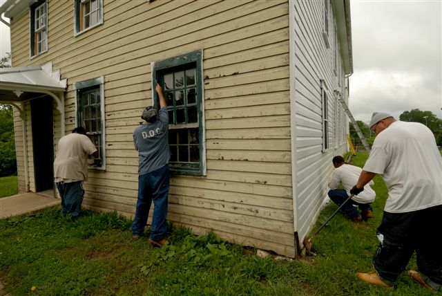 Williamsport crew working on house