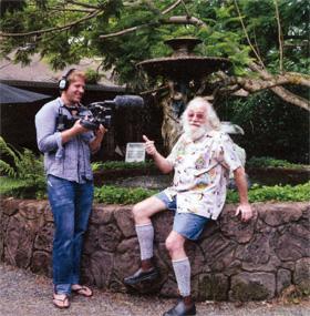 Peter filming Michael