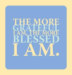 Grateful/Blessed Affirmation