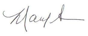 Mary Ann's signature