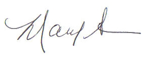 Mary Ann's signature