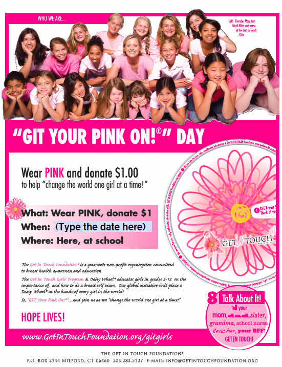 2010 GIT Your Pink On! Day flyer