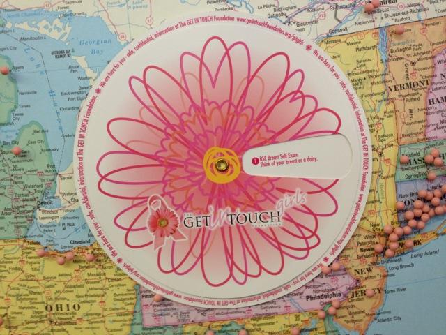 Daisy Wheel against map