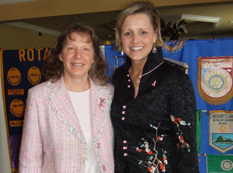 Rotary 2010 with Tracy O'Brien