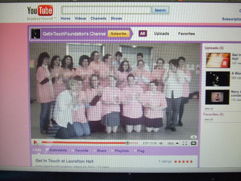 Get In Touch Girls' Program video shoot