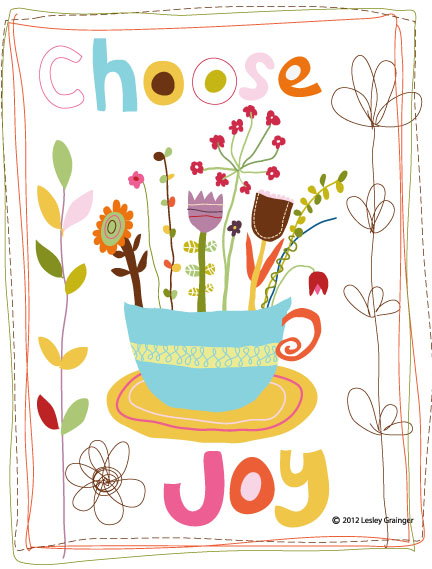 Choose Joy flower basket