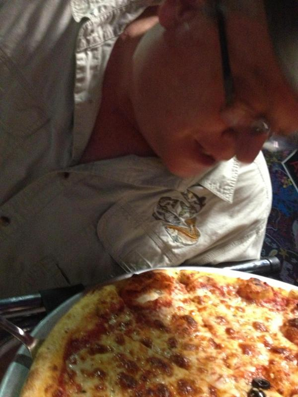 Sully w/pizza