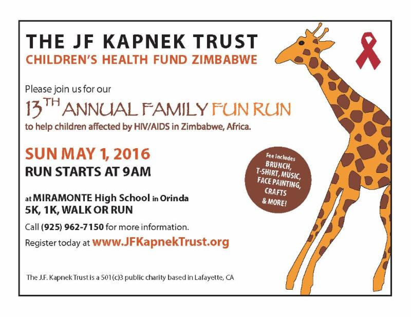 13th Annual JF Kapnek Trust Family Fun Run