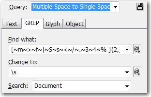 Multiple Space to Single Space