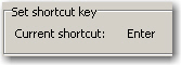 Shortcut key attached to a Text Entry box
