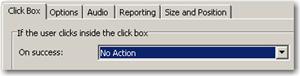 Set click box options to No Action