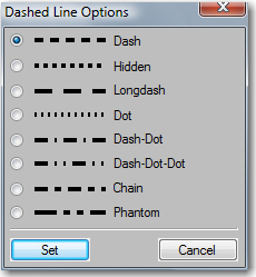 Dashed Line Options