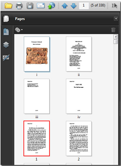 Acrobat pages renumbered