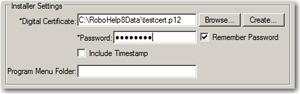 More digital certificate settings