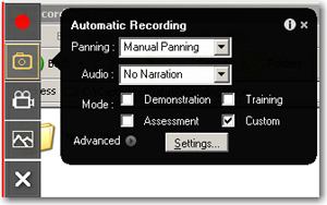 Automatic Recording: Manual Panning