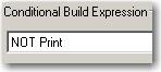 Conditional Build Expression drop-down menu