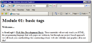 How physical tags look in a browser