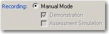 Manual Mode Selected