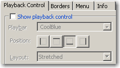 "Deselect ""Show Playback Controls"" for a skin"