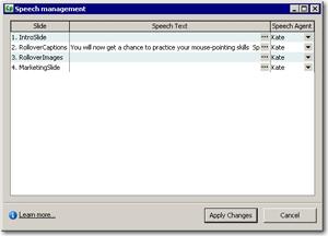 Speech Management