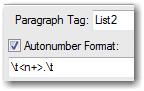Autonumber format
