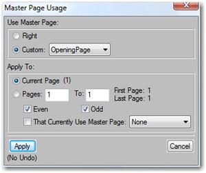 Master Page Usage