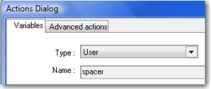 New variable called Spacer.