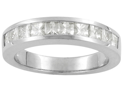 Square Stone Moissanite Fire Band