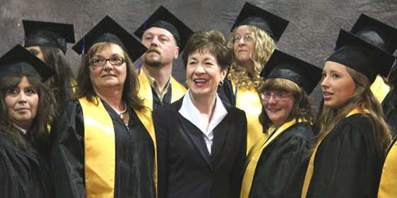 Senator Susan Collins joined EMCC graduates at their commencement exercises this spring.