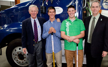 Dead River donates trucks to MCCS.