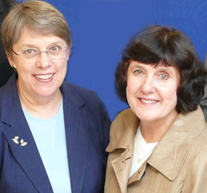 Joyce Hedlund and Barbara Woodlee
