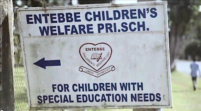 Entebbe Special Ed School sign