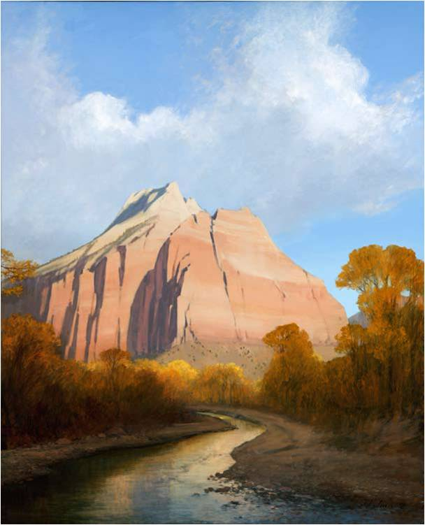"Cathedral Mountain from ""Jim Jones: Recent Paintings."""