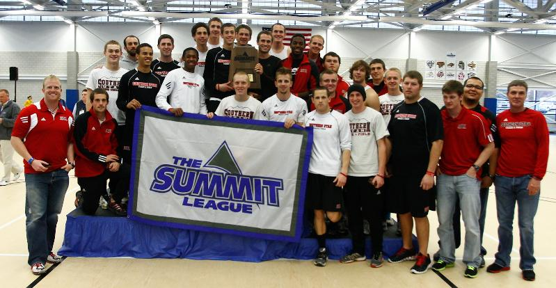 Summit League 2012 Indoor Track Champions. Photo courtsey Lucas Carter.