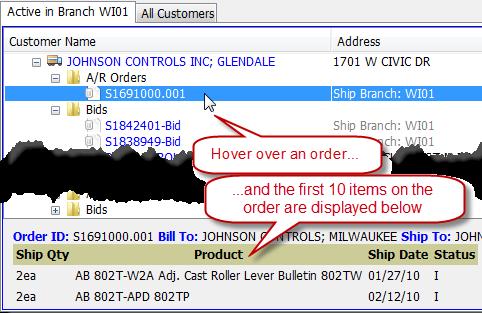 Searching Bid Order Invoice Solar screen shot
