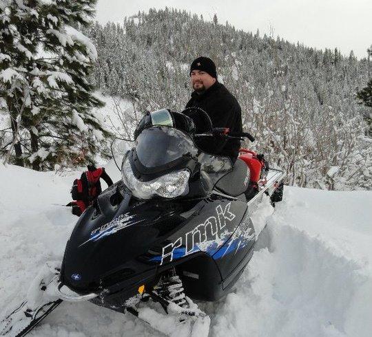 Darin on Snowmobile
