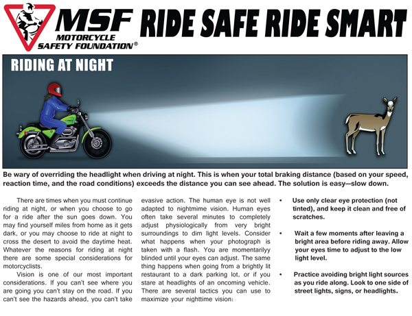 MSF Ride Safe Ride Smart