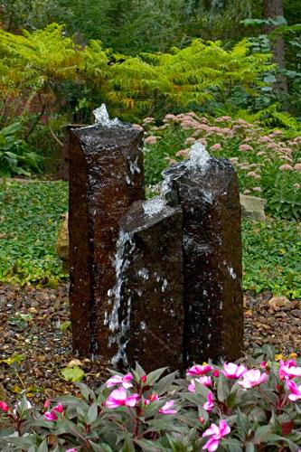 Basalt bubbler at Stone Garden