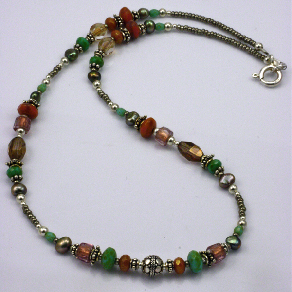 Glass Bead necklace at stonegarden-nc.com