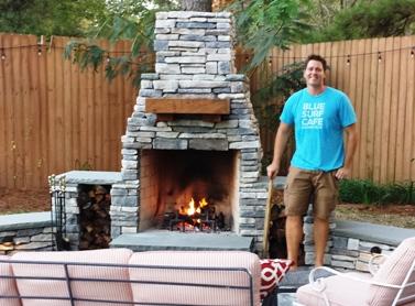 Barret's fireplace