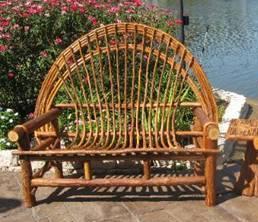 Twig furniture at stonegarden