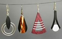 Wood earrings at Stone Garden