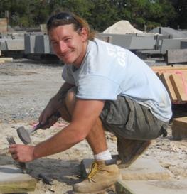Jon Mayer runs Stone Garden's Cutting Shop